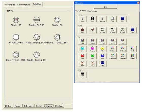 Fixture erstellen mit Symbolen für voreingestellte Preset-Werte und Funktionen