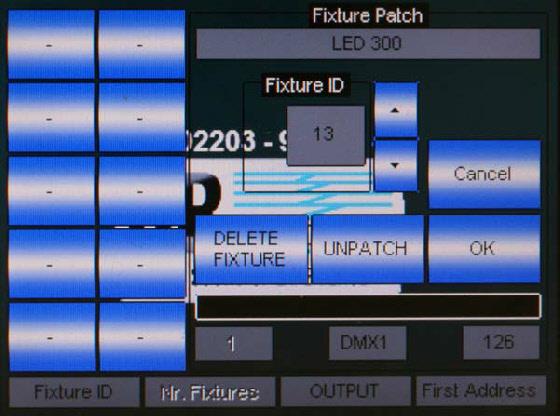 Einfaches Patchen – Startadresse, ID und DMX-Universum festlegen fertig.