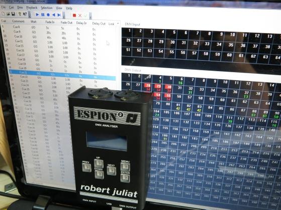 DMX-Tester ESpion mit Monitor via USB