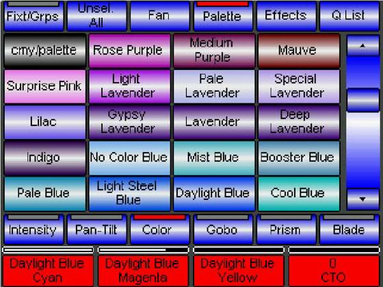 Beispiel einer Farbpalette -bzw. Preset